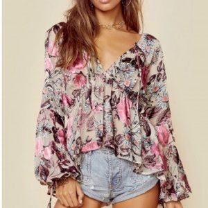 For love and lemons cadence blouse size small